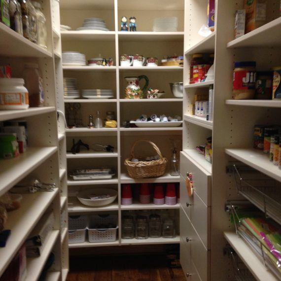 shelves in a pantry
